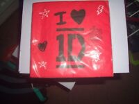 One Direction Napkins. Box of 192 .Brand New Sealed.Official License