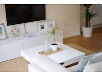 Ikea TV bench   White   Less than 1 year old   65% OFF