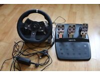 Logitech G920 steering wheel and pedals! NEEDS TO GO 150 ONO