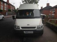 2001/51 ford transit 300 mwb high roof motorhome