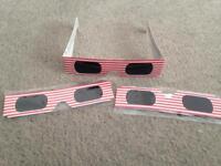 Solar eclipse glasses viewing sun eclipse