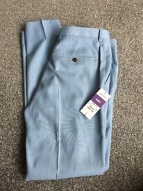 BURTONS SKINNY FIT BLUE TROUSERS
