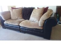 Three seater sofa,two chairs,can be used as corner unit also.removable machine washable covers