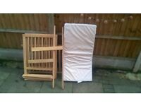good condition baby cot with mattress