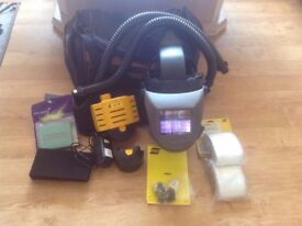 Welding Helmet, Esab Albatross 4000x welding and grinding air fed system