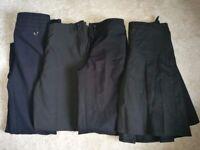 Girls black school trousers age 9-10