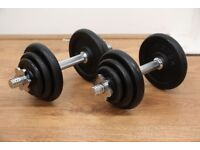 JLL Fitness 20kg Cast Iron Dumbbell Set - Ex Display - Collection Only