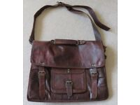 Leather laptop satchel/messenger bag