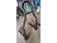 Rear motorcycle paddock stand