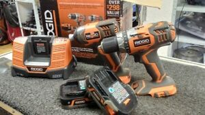 !!!!!WOW KIT DE DRILL ET IMPACT RIDGID 129.95!!!!!!!