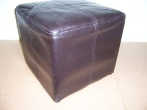 Brown padded Foot stool size about 13.5 inches cubed $10