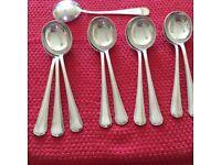 Vintage SHM & Co Argle triple plate Soup spoons 2 lots of 6