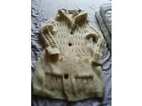 Cream hooded UGG Cardigan