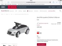AUDI Children's sit-on-car, suitable for 1-3 years old
