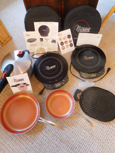 2 Digital Induction cooktops, pans, grill, pressure cooker...