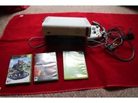 Xbox 360 Microsoft White Pal COMPUTER CONSOLE -(3 games) good condition and fully working