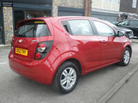 2012 Chevrolet Aveo 1.4 ( 99bhp ) Auto LT 5DR Petrol Red