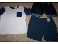 3 ITEMS BOYS AGE 5 SUMMER CLOTHES NEW