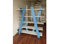 Design X Shaped Blue Bookshelf