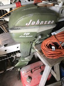1950s Vintage 10hp Motor with an assortment of props