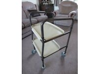 Two tier tray trolley.