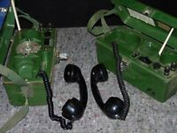 Real Ex Army Field Phones