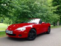 MAZDA (54) MX5 1.8 PETROL CONVERTIBLE , YEAR MOT LOVELY RED CHILLI RED