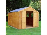 10 x 8 Waltons Overlap Apex Wooden Shed