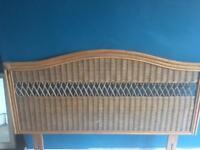 Wicker/rattan headboard for a double bed