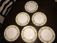 Aynsley China - Henley Design - Dinner Plates - 6 off x 9""
