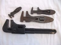 4 Old Wrenches. Good, Used Condition & In Working Order. Price is for ALL 4