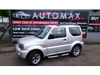 2005 55 SUZUKI JIMNY 1.3 VVTS AUTO 4 X 4 IN SILVER JAN 2018 MOT ONLY 60K F/S/HISTORY CD CHROME BARS