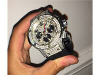 Diamond Swiss Hublot big bang not cartier rolex Audemars piguet