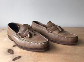 Light Brown loafers/ boat shoes size 7
