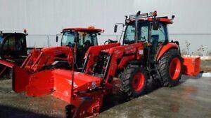 Kubota tracteur M7060 comme neuf (neige, terre, pto, champs)