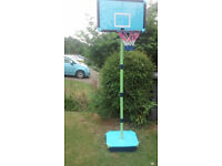 Childs Basketball, height adjustable, packs away in box £10