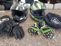 Shoei motorbike helmet and free HJC helmet