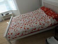 House clearance: double bed with mattress, YOKO sofa bed, two wardrobes, dresser, bedside tables