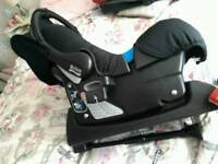 Travel system includes isofix carseat , carrycot, pushchair / stroller attachment