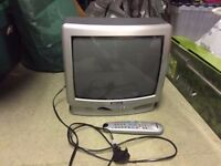 "Portable colour 14"" television bundle with dvd and freeview box"