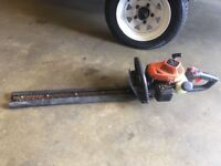 Hitachi petrol hedge trimmer, works well