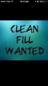 CLEAN FILL WANTED ( SMALL FEE APPLIES)