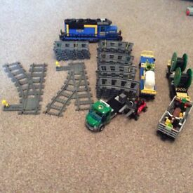 Lego city train set with extras