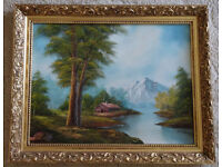 Landscape Oil Painting signed Ron Leach
