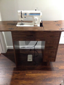 Sewing machine including cabinet