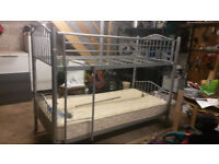 Quality Steel Bunk Beds, can be split into two single Beds