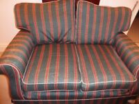 2 good quality 2 seater sofa's incl pouffe