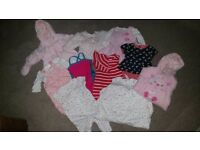 **Baby girl (0 to 3 months) clothes bundle**