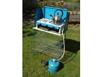 Camping Gaz Grillogaz grill, hob, stand and multiple Campinggaz bottle set
