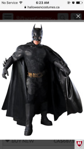 Dark knight men's batman costume